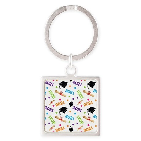 Class of 2021 Grad Gift Square Keychain