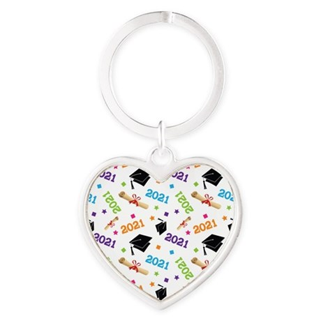Class of 2021 Grad Gift Heart Keychain