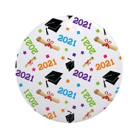 Class of 2021 Grad Gift Ornament (Round)
