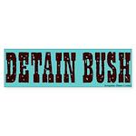 Blue Detain Bush Bumper Sticker