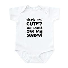 Think I'm Cute? Grandma Black Infant Bodysuit