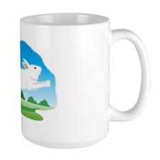 Leaping Rabbit in the Field Mug