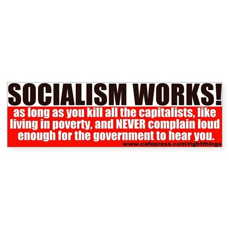 SOCIALISM WORKS! Political Bumper Sticker