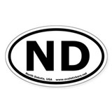 North Dakota Oval Bumper Decal