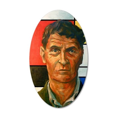 Wittgenstein 35x21 Oval Wall Decal