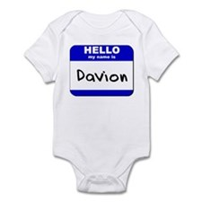 hello my name is davion  Infant Bodysuit