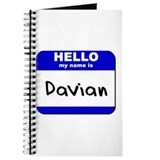 hello my name is davian Journal