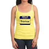 hello my name is davian  Tank Top