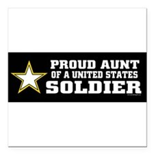 "Unique Military Square Car Magnet 3"" x 3"""
