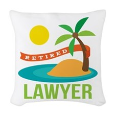 Retired Lawyer Woven Throw Pillow