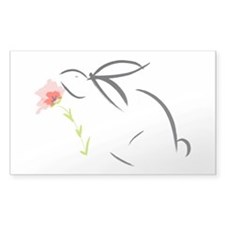 Bunny and flower Decal