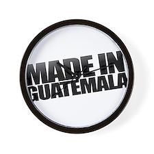 GUATEMALA BLACK Wall Clock
