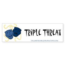 Theatre Masks 3T Bumper Bumper Sticker