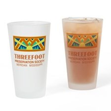 Threefoot Preservation Society Motif Drinking Glas