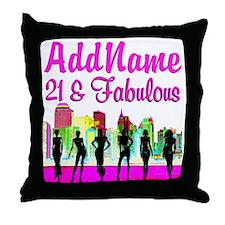 21ST NEW YORK Throw Pillow