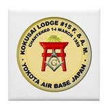 Kokusai Lodge #15 Tile Coaster