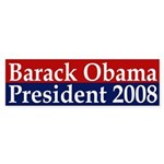 Barack Obama: President 2008 (sticker)