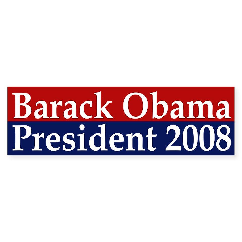 Barack Obama President 2008 (sticker)  Progressive Values