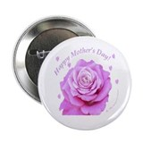 Mother's Day, Pink Rose Button