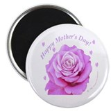 "Mother's Day, Pink Rose 2.25"" Magnet (10 pack)"