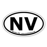 Nevada Oval Bumper Decal