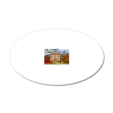 Samhain Cottage 20x12 Oval Wall Decal