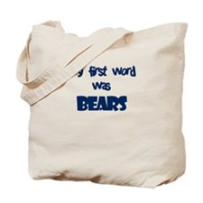 First Word Bears (blue) Tote Bag