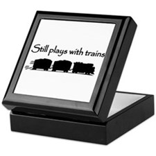 Still Plays With Trains Keepsake Box