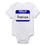 hello my name is darion  Infant Bodysuit