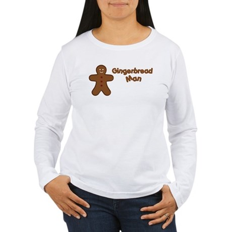 Gingerbread Man Women's Long Sleeve T-Shirt