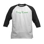 Frog Kisser Kids Baseball Jersey