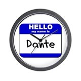 hello my name is dante  Wall Clock