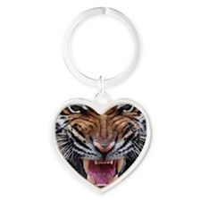 Tiger Mad Heart Keychain