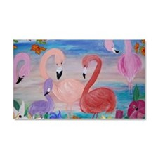 Flamingo Garden Car Magnet 20 x 12