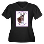 A cute Jack Ass! Women's Plus Size V-Neck Dark T-S