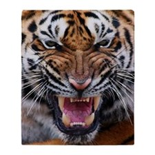 Big Cat Tiger Roar Throw Blanket