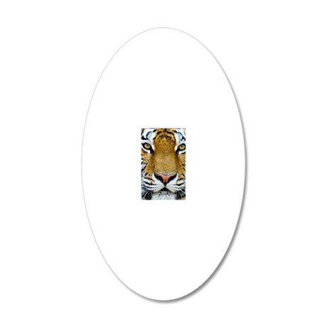 Tiger 20x12 Oval Wall Decal
