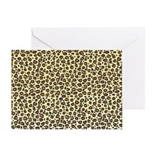 Leopard Animal Print Greeting Card