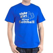 This Girl Loves Softball T-Shirt