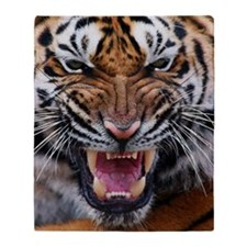 Tiger Mad Throw Blanket