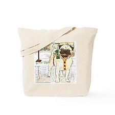 Holiday Pug Tote Bag