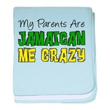 Parents Jamaican Me Crazy baby blanket