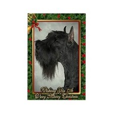 Giant Schnauzer Dog Christmas Rectangle Magnet