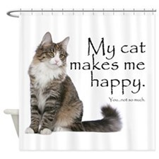 Not So Much Cat Shower Curtain