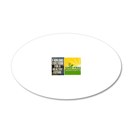 GMO-Free OC Business Card 20x12 Oval Wall Decal