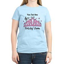 Personalized Tiara 40th Birthday Queen T-Shirt