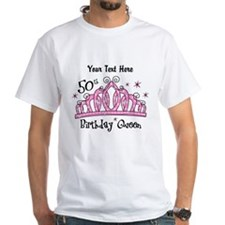 Personalized Tiara 50th Birthday Queen Shirt