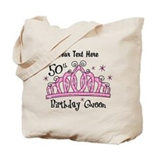 Personalized Tiara 50th Birthday Queen Tote Bag