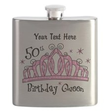Personalized Tiara 50th Birthday Queen Flask
