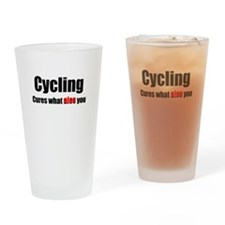 Cycling cures what ALES you Drinking Glass